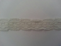 wholesale price 1Y OFF White 3D Embossed Floral Stretch Lace Trim 5/8 W S1-2