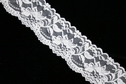 White Double Scalloped Floral Stretch Lace Trim 2 1/4 W S 2-4