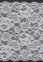 White Double Scalloped Floral Wide Stretch  Lace Trim 5 3/4 W S 4-9