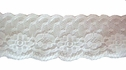 Off  White Floral Double Scalloped Lace Trim 1 3/8 W L 6-1