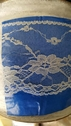 White Floral double Scalloped Lace Trim 3.5 In W L4-1