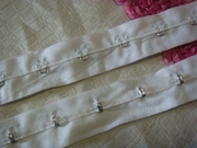 white hook and eye tape trim 1 inch wide