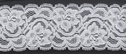 White Soft Scalloped Floral Stretch Lace Trim 1 7/8  S 1-11