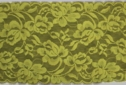 1Y Yellow floral stretch wide lace trim 5 W S7-3