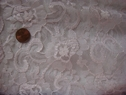 1yd Baby pink floral lace fabric 60 inch wide