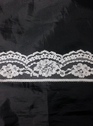 White poly lace trim 1 3/4 in L8-1a