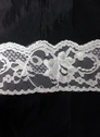 white or  black poly floral scalloped  lace trim 2 3/4  L 10-6