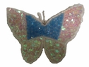 Butterfly White Blue Iron On Applique Trim Craft