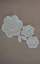 Ivory floral embroidered applique C 9