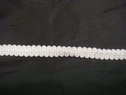 2 Y White Braided French Gimp Lace Trim 7/16 inch