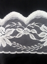 White / Black Floral Poly Lace trim 5 inch L11-6