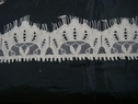 3 yards and 10 inch Creme color beautiful eyelash scalloped lace trim 1 3/4 w