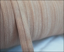 Roll 200 Yards Beige Fold Over Elastic Trim 5/8 W