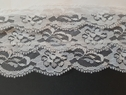 3 Layers White Lace Trim Scalloped Trim On Tulle 4 1/2 In