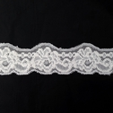 Stretch Lace Black White Stretch trim Floral Design 1 3/8 in Wide