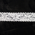 Stretch Lace Black White Stretch trim Floral Design 1 1/8 in Wide S 2-5