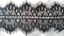 3 yards and 12 inch pre cut Black polyester eyelash insert double scalloped lace trim 4 1/2
