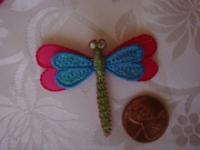 4pcs Dragonfly rhinestone applique