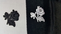 1 White Rose Flower Shaped Iron-On small Applique 1 1/2 W (C8)