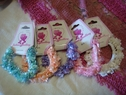 5pc flower beaded scrunchies buy 5 get 1 FREE