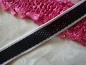 Black and White Mesh Stretch stripe Ribbon Trim 3/4