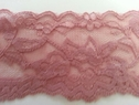 price is based on one yard  dusty rose Scalloped Stretch Lace Trim 2 W S3-6
