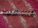 6 pair metal kids hair clips with iridescent rhinestone stars multi-color