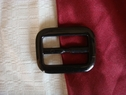 Belt buckle rectangular acrylic black middle line