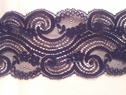 Black Double Scalloped lace trim gorgeous design 3 1/4 L7-4