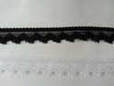 Black Narrow stretch scalloped lace trim 1/2 S1
