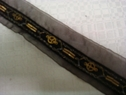Black Organza Black Velvet Gold Embroidered Peace Trim