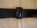 Black Patent Faux Leather Belt