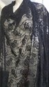 "Black Rose Embossed  2 ways Stretch Lace Fabric  53"" Evening Bridal"