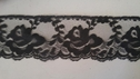 Black  Pretty Scalloped  Rose Flower lace trim 2.5  L 7-5