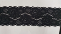 Black Stretch Double Scalloped Lace Trim 2.5