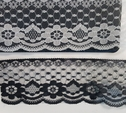 Black / White Lace Floral Scalloped 2.5 In  L 2-4