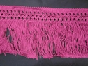 Braided rayon fringe fuchsia trim 4.5