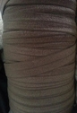 Brown fold over foe elastic 100 yards roll great for hair tie