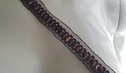 Brown Sequin Organza Embroidered Trim 1 inch