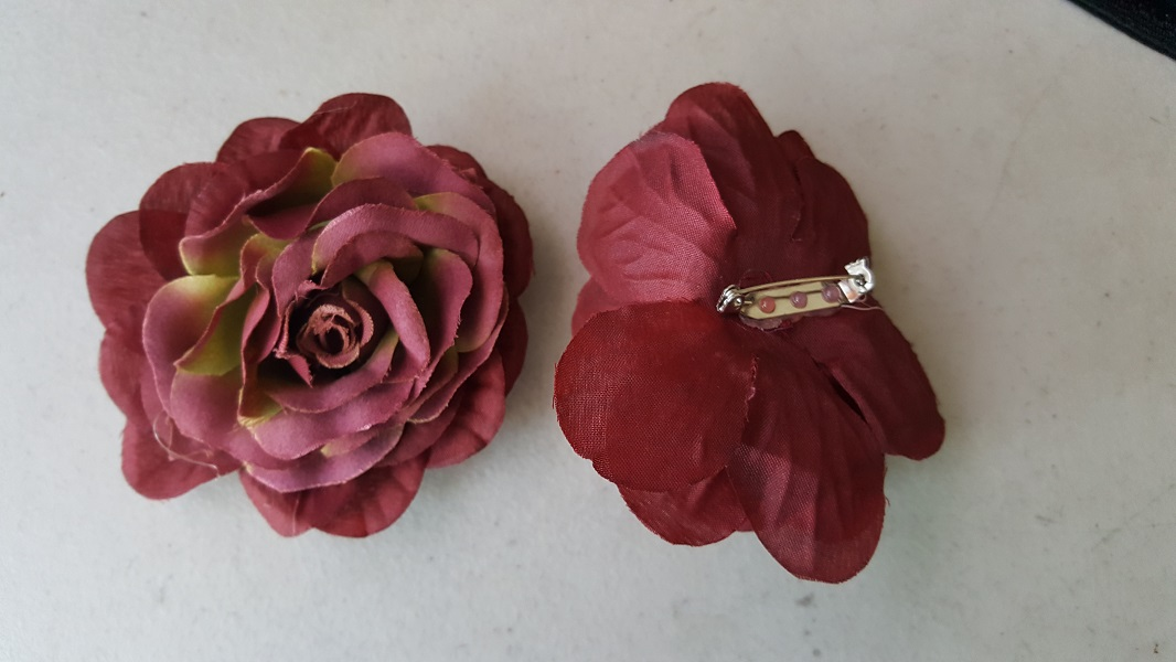 2 tone burgundy sage silk flower with metal pin on back for brooch burgundy sage two tone silk flower pin brooch mightylinksfo