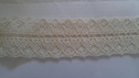 Crochet natural insert double scalloped  1 1/2
