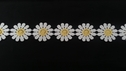 Daisy White and Yellow Flower Venice venise lace Trim 1 inch