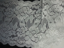 Embossed shiny stretch lace wide trim 5.5 S6-6