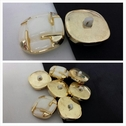 Gold and ivory self shank button 22 mm great for Coat