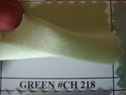 Green Charmeuse fabric polyester