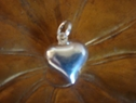Heart shaped locket pendant sterling silver puffed 925