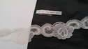 Ivory lace double scalloped gorgeous lace trim L 2-2