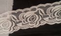 Ivory rose embroidered lace trim 2 inch wide