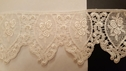 Ivory Victorian Venice Rose  Scalloped Edge Lace trim 3 inch