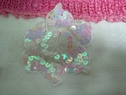lot 1 p white organza sequins 2 layer 3-D applique